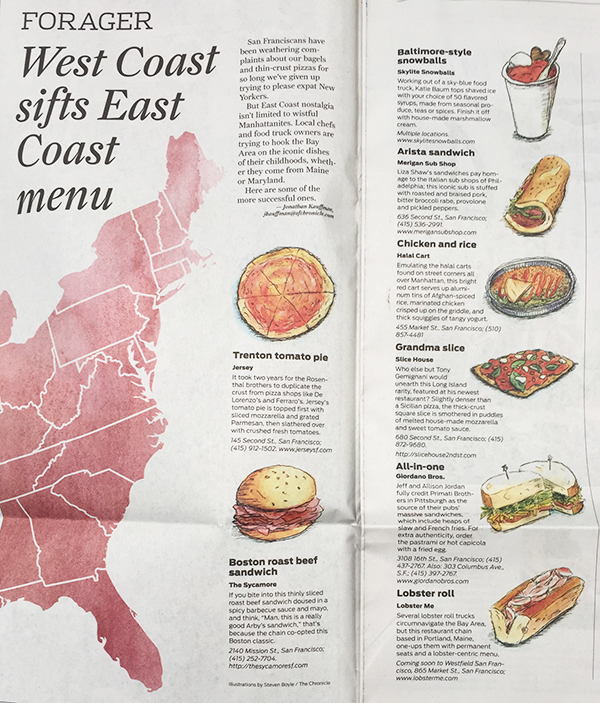 FEATURED ON SAN FRANCISCO CHRONICLE: West Coast sifts East Coast menu - Lobster ME